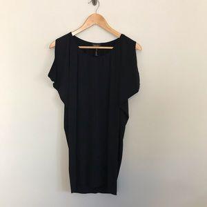 Laundry Shelli Segal Black Cold Shoulder Dress XS